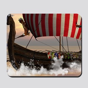 The viking longship Mousepad