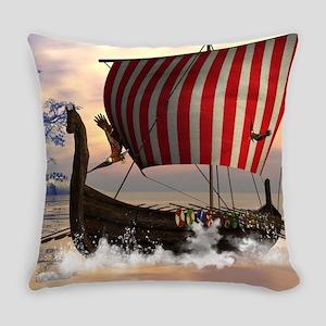 The viking longship Everyday Pillow