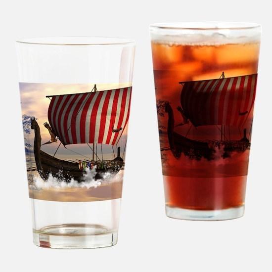 The viking longship Drinking Glass