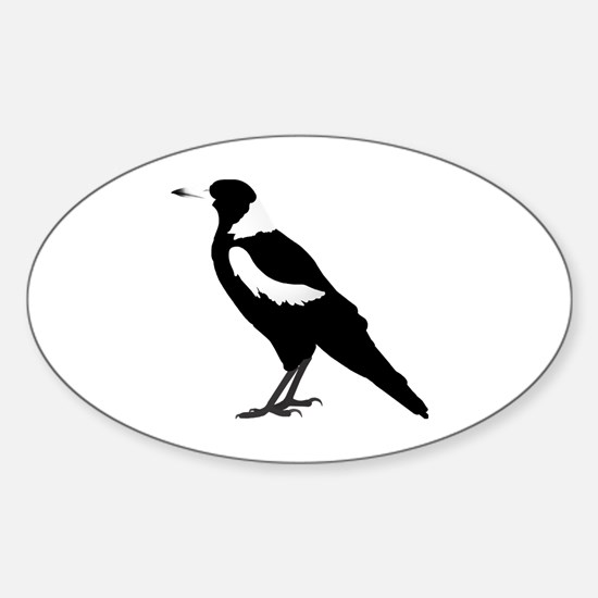 Cute White bird Sticker (Oval)