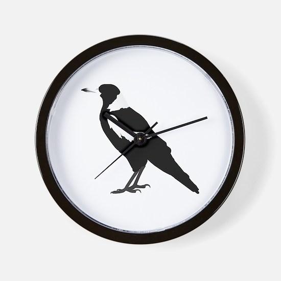Cute Magpies Wall Clock