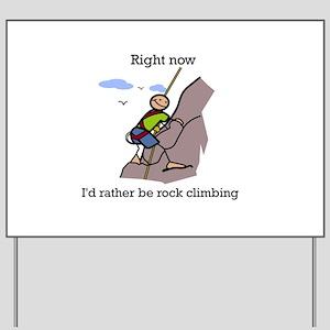 Rock Climbing designs Yard Sign
