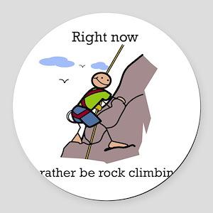 Rock Climbing designs Round Car Magnet