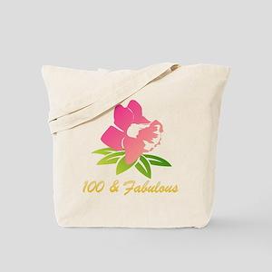 100 & Fabulous Flower Tote Bag