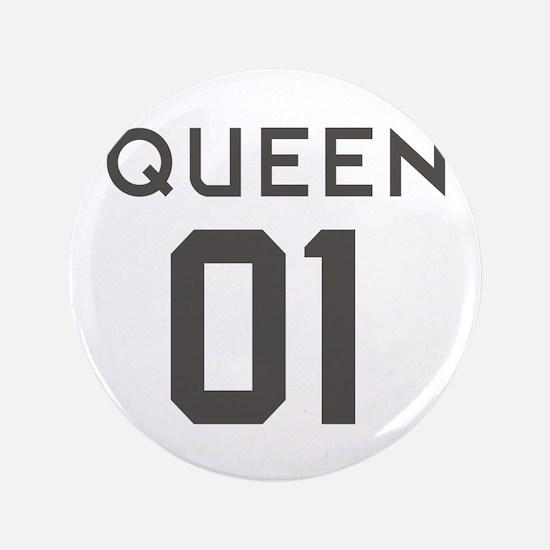 king quan queen couple Button