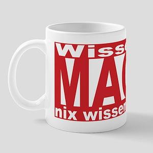 Wissen ist Macht (red) Mug