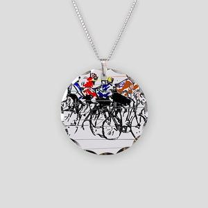 Tour de France Necklace Circle Charm