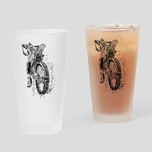 Motor Cross Drinking Glass