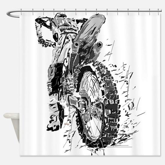 Motor Cross Shower Curtain