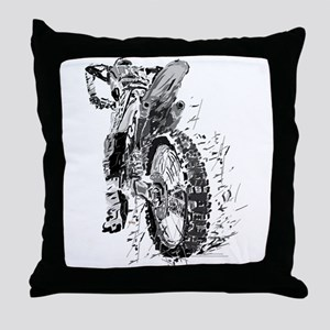 Motor Cross Throw Pillow