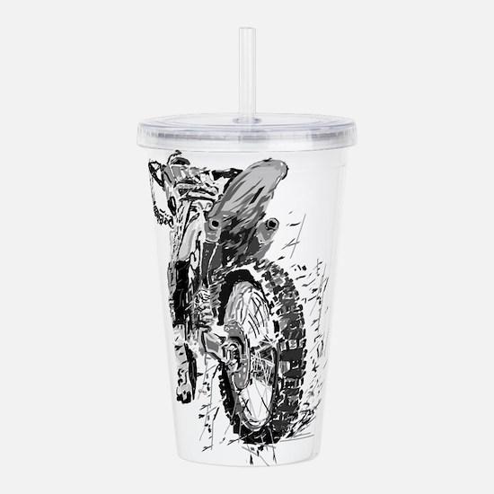 Motor Cross Acrylic Double-wall Tumbler