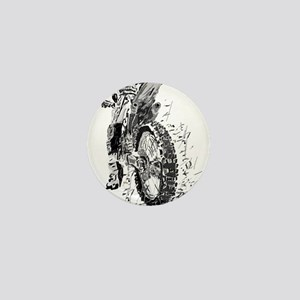 Motor Cross Mini Button