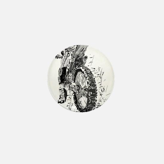 Motor Cross Mini Button