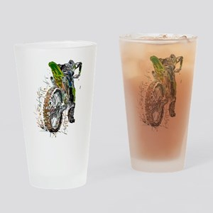 Motorcross Drinking Glass