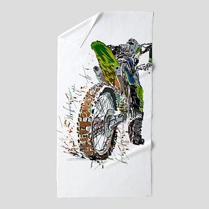 Motorcross Beach Towel