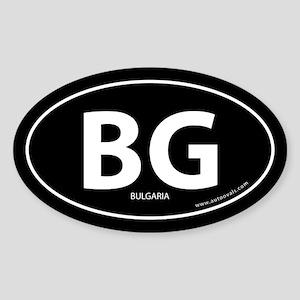 Bulgaria country bumper sticker -Black (Oval)