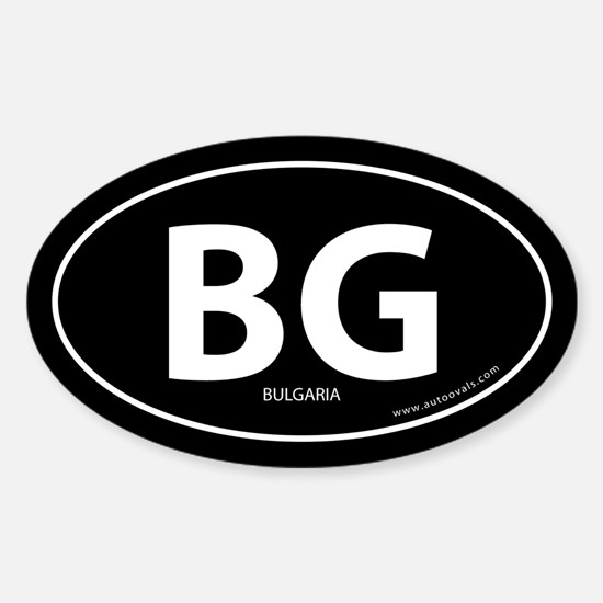 Bulgaria country bumper sticker -Black (Oval)