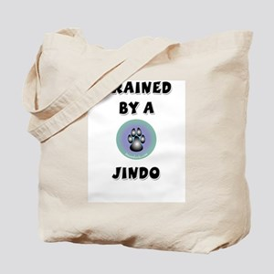 Trained by a Jindo Tote Bag