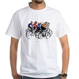 Bicycle Mens Classic White T-Shirts