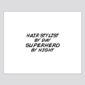 Hairstylist Superhero Small Poster
