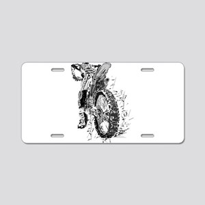 Motor Cross Aluminum License Plate