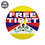 "Free Tibet 3.5"" Button (10 pack)"