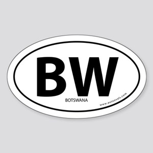 Botswana BW country bumper sticker -White (Oval)