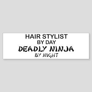 Hair Stylist Deadly Ninja Bumper Sticker