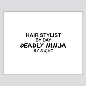 Hair Stylist Deadly Ninja Small Poster