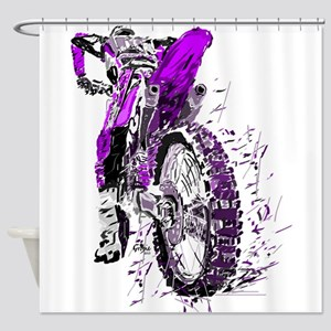Motorcross Shower Curtain