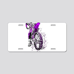 Motorcross Aluminum License Plate