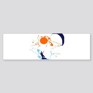 Kite Surfing Bumper Sticker