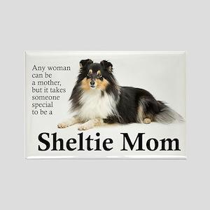 Tri-Color Sheltie Mom Magnets