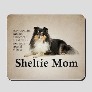 Tri-Color Sheltie Mom Mousepad
