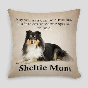 Tri-Color Sheltie Mom Everyday Pillow