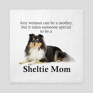 Tri-Color Sheltie Mom Queen Duvet