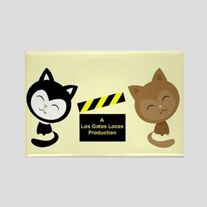 Los Gatos Locos Rectangle Magnet