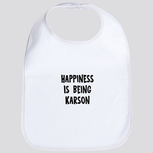 Happiness is being Karson Bib