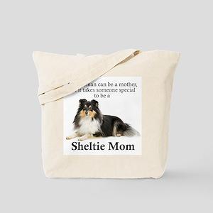 Tri-Color Sheltie Mom Tote Bag