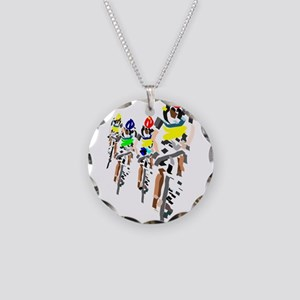 Bikers Necklace Circle Charm