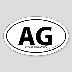 Antigua and Barbuda bumper sticker -White (Oval)
