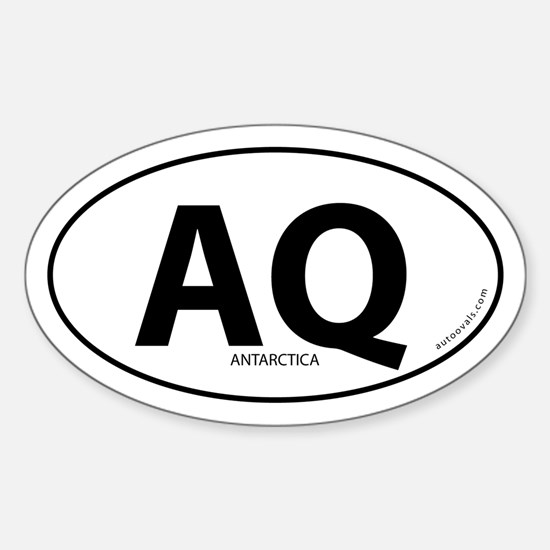 Antarctica country bumper sticker -White (Oval)