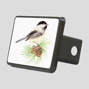 Watercolor Chickadee Bird Rectangular Hitch Cover