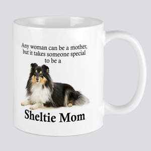 Tri-Color Sheltie Mom Mugs