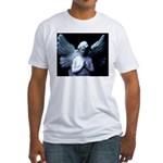 praying cemetery angel Fitted T-Shirt