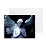 praying cemetery angel Greeting Cards (Package of