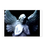 praying cemetery angel Postcards (Package of 8)