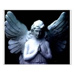praying cemetery angel Small Poster