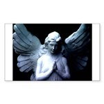 praying cemetery angel Rectangle Sticker