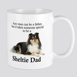 Tri-Color Sheltie Dad Mugs
